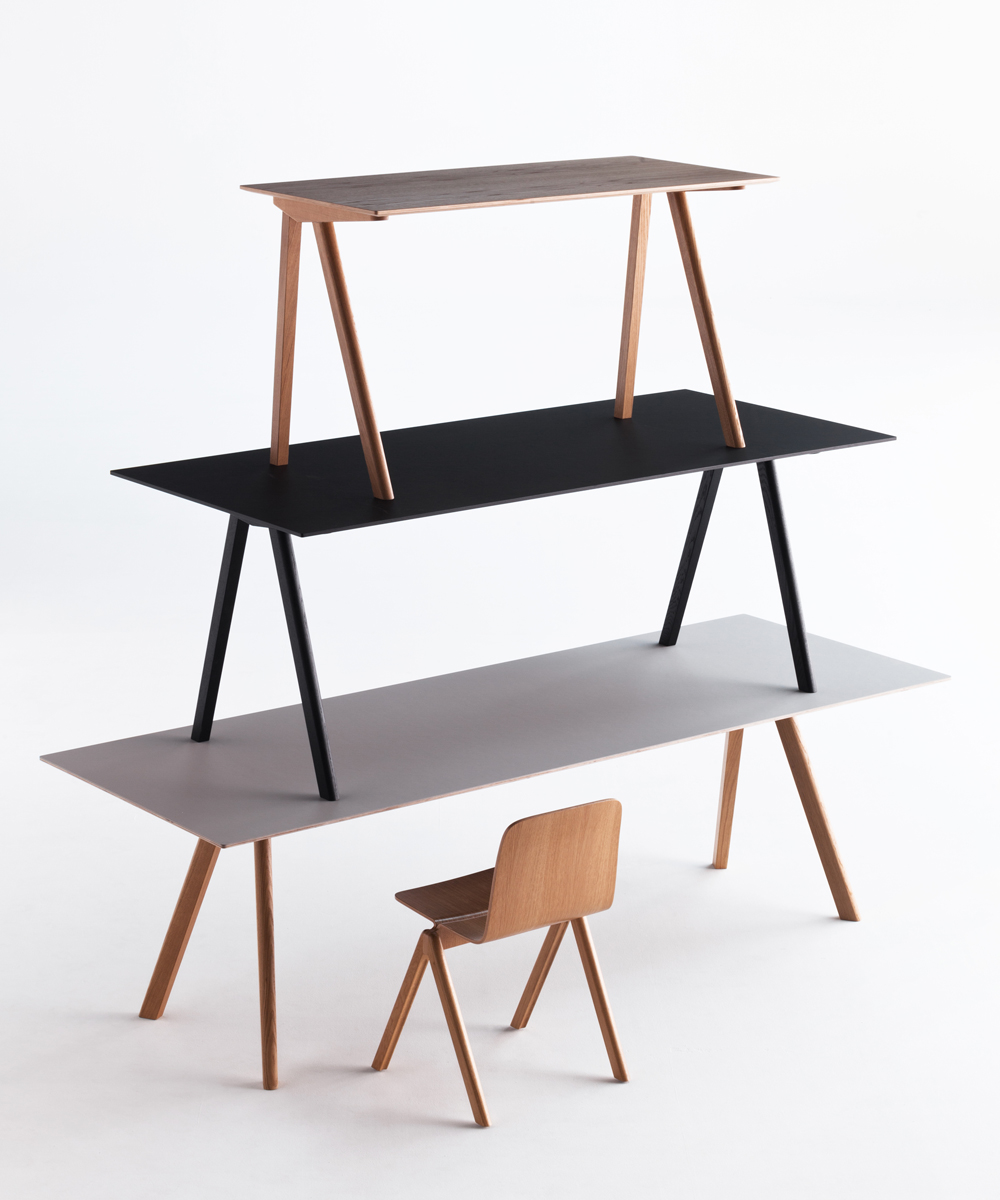 hay copenhague table cph10 eiche grau toendel. Black Bedroom Furniture Sets. Home Design Ideas