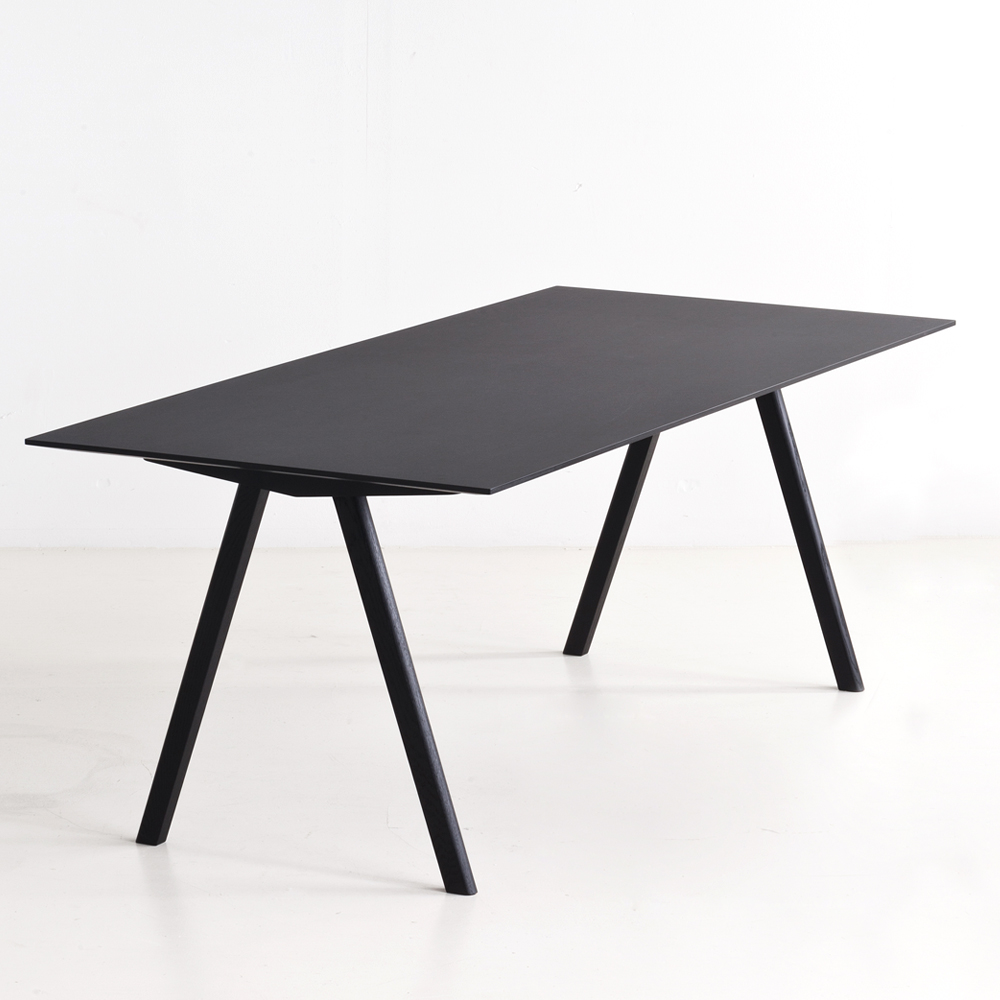 hay copenhague table cph10 schwarz l 160 m bel. Black Bedroom Furniture Sets. Home Design Ideas