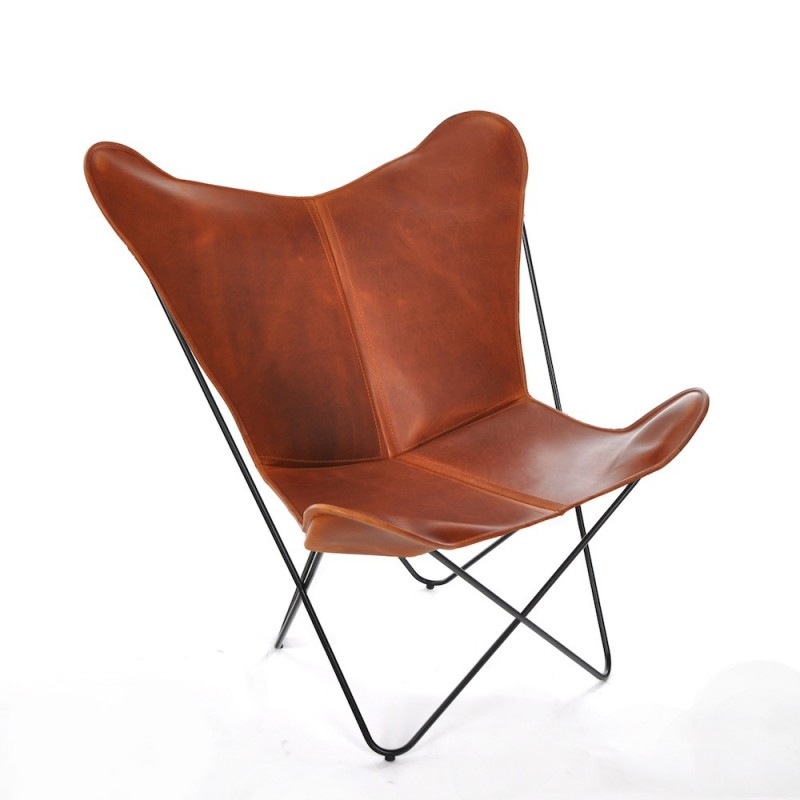 Objectcph ledersessel papillon cognac toendel for Sessel klassiker design