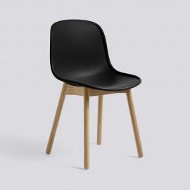 Design-Schalenstuhl schwarz