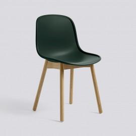 Design Schalenstuhl dunkelgrün