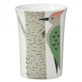 Porzellanbecher mit Vogel-Motiv