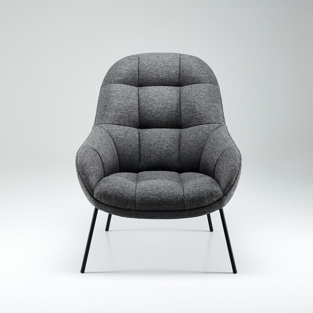 Lesesessel Design won mango lounge chair graumeliert toendel