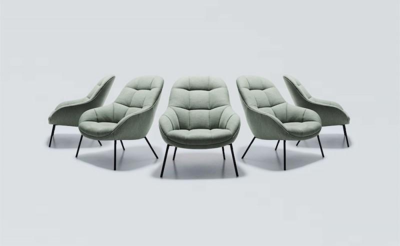Won mango lounge chair graumeliert toendel for Lesesessel design