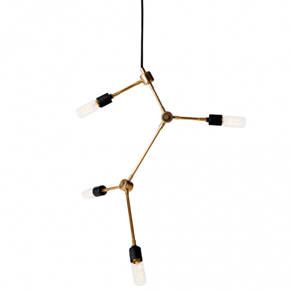 minimalistischer Kronleuchter im Industriedesign