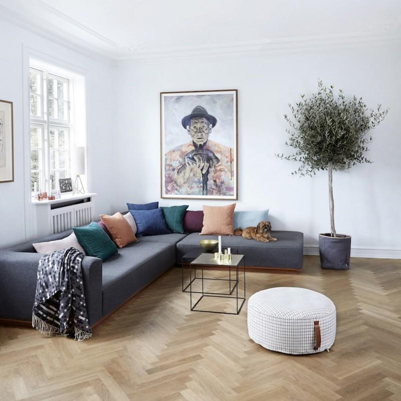 oyoy kissen fluffy herringbone rose toendel. Black Bedroom Furniture Sets. Home Design Ideas