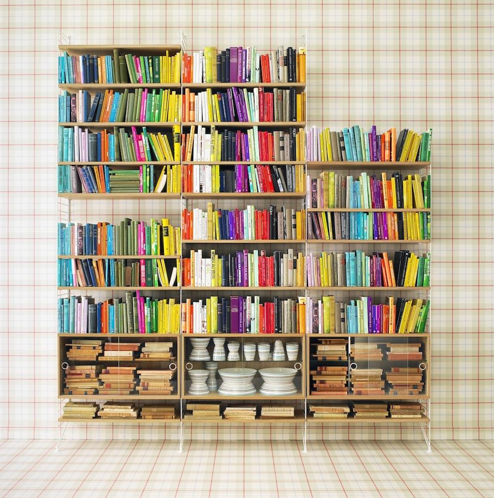 Bücherregal System string regalsystem bücherregal toendel