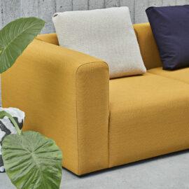 skandinavisches Designsofa in Kvadrat Steelcut