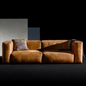 Sofa Leder Cognacfarben