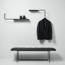 skanidinavische Design Bank und Garderobe