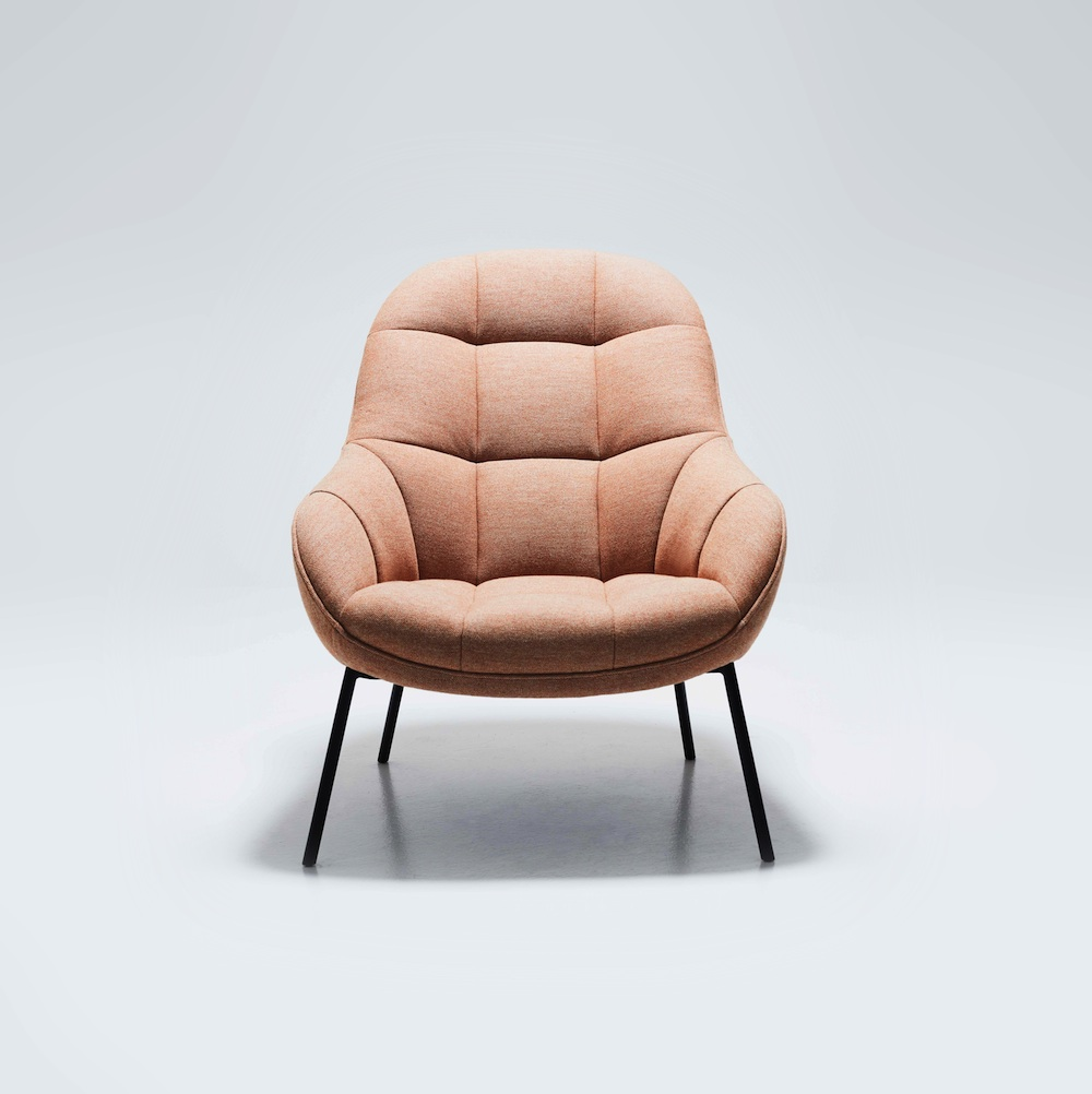 won mango lounge chair orange meliert m bel design k ln