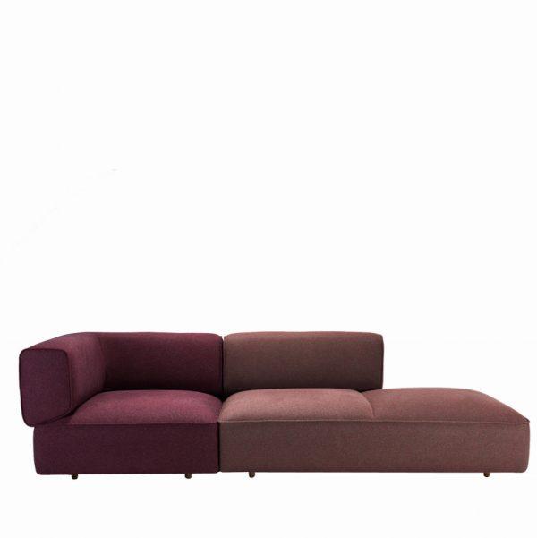 Modulares Sofa zweifarbig