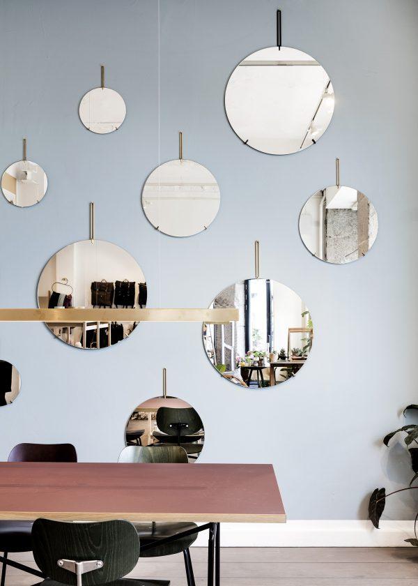 runder Wandspiegel