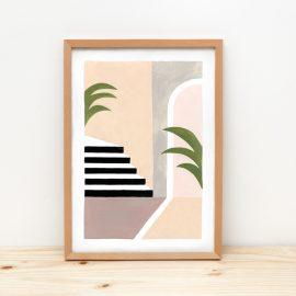 Stilleben Treppe und Palmen