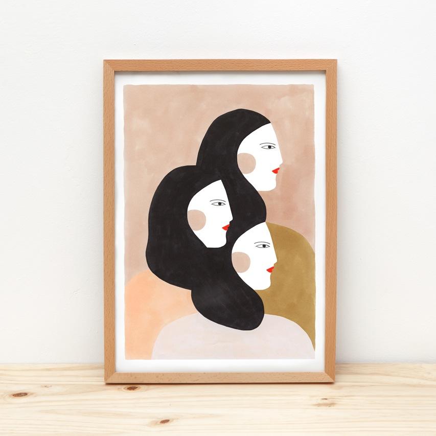 Ilustration 3 Frauen
