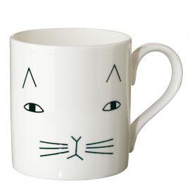Porzellantasse mit Katze aus London