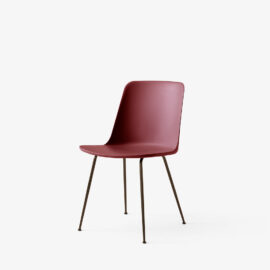 Stuhl &Tradition Rely Bronzed Red Brown