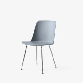 Stuhl &Tradition Rely Chrome Light Blue