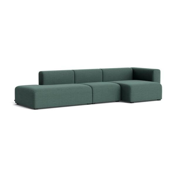 Sofa HAY Mags 3-Sitzer Komb.4 Steelcut Trio 966
