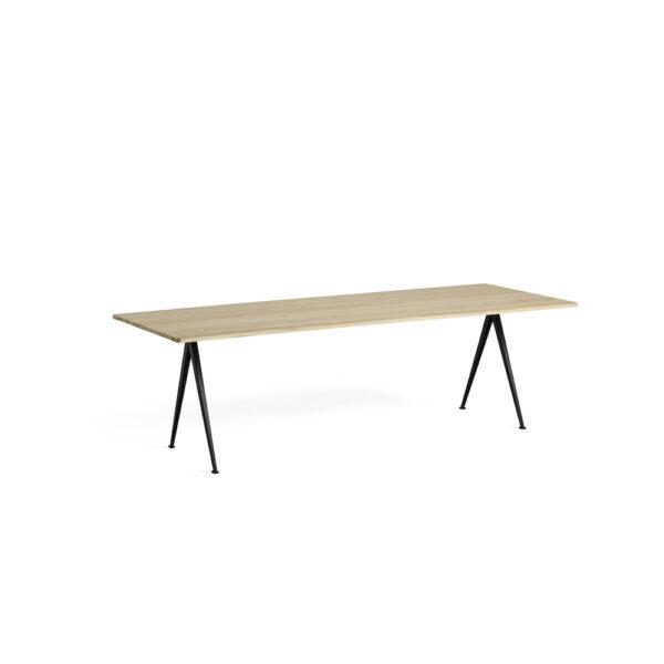 Tisch HAY Pyramid L250 W85 Oak matt lacquered black