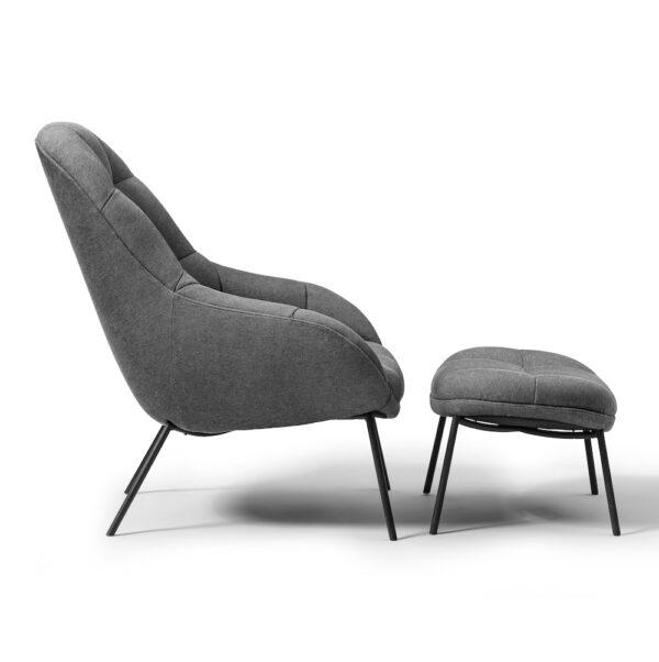 Mango Lounge Chair und Stool von Wendelbo